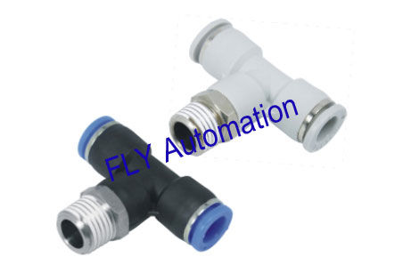 Quick Connect PB Pisco Tee Zinc Brass Pneumatic Tube Fittings