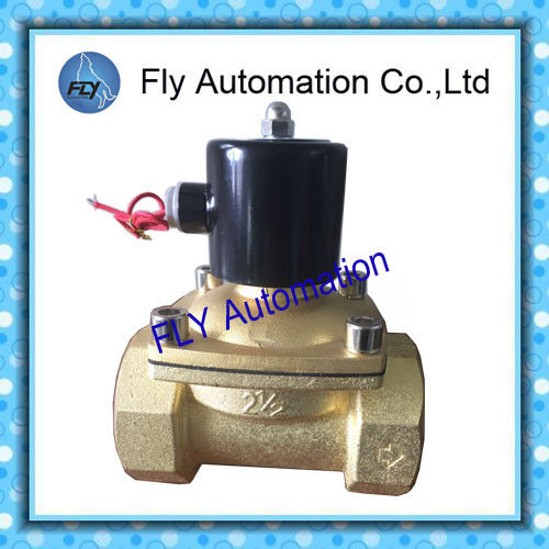"2.5"" Threaded 2 Way Water Solenoid Valves Brass / stainless steel body AC220V DC24V"