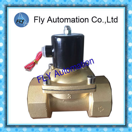 3inch Operated Directly 76mm Water Solenoid Valves , Threaded 2 Way Brass valves